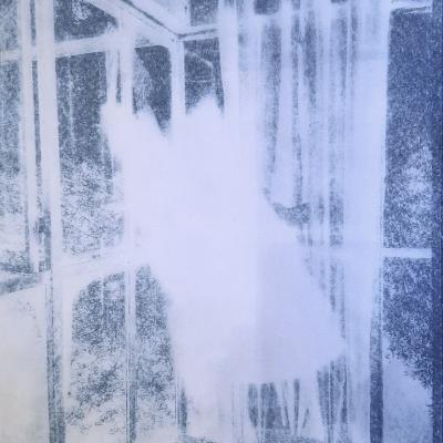 Trace d'un tissu flottant sous la véranda #2